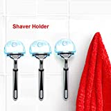 Prevently Brand New Creative Useful Shaver Toothbrush Holder Washroom Wall Sucker Suction Cup Hook Razor Bathroom (A)