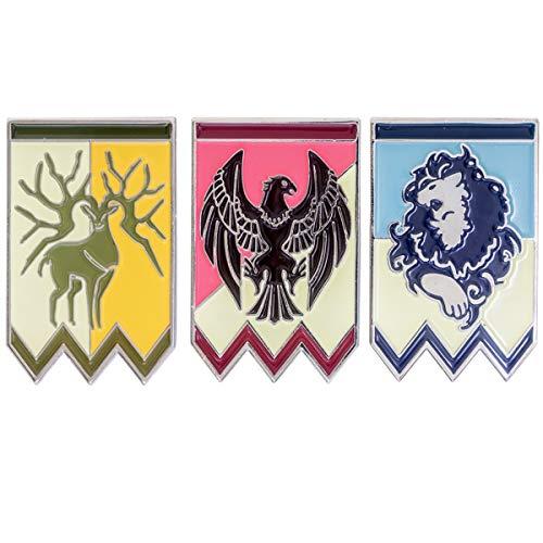 Chiefstore Fire Emblem Three Houses Protagonist Abzeichen 3 stücke Spiel Cosplay Kostüm Broschen Pins für Erwachsene Zubehör Geschenke Kollection (Fire Emblem Awakening Cosplay Kostüm)