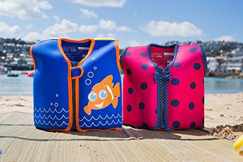 Die original Konfidence Unisex-Kinder Schwimmweste,  Mehrfarbig (Scoot the Clownfish), 6-7 Jahre