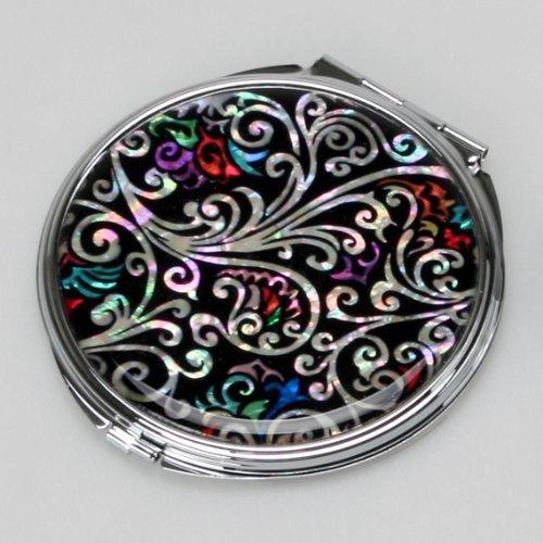 Miroir Compact Nacre Art Déco Maquillage Cosmétique