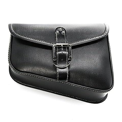 1 PC LEAGUE & CO Universal Moto PU cuir selle sac à outils noir Sacoche