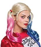 Rubie's 333608 - Harley Quinn Sucide Squad Perücke, Action Dress Ups und Zubehör, One Size
