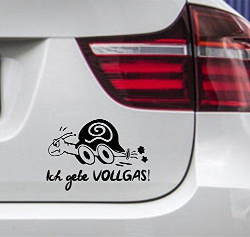 (wDesigns Autoaufkleber Schildkröte Ich gebe VOLLGAS! Tuning Aufkleber Sticker Sprüche)