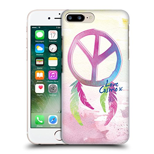 Official Cosmopolitan Spiral Butterflies Boho Hard Back Case for Apple iPhone X Peace