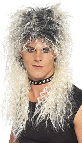 Damen 80er Fancy Kleid Party Hard Rocker Perücke Erwachsene lang strubbeligen mit ()