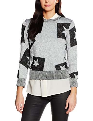 Cheap Monday Tips Knit Cut Star, Felpa Donna, Silver (Silver), 44