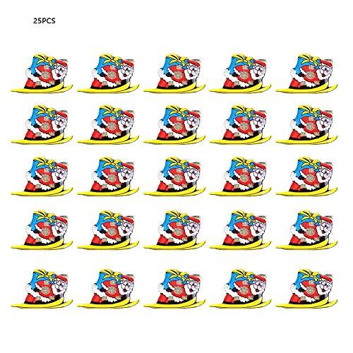Broschen & Pins, 25 Stück funkelnde Brosche Pins Holiday Brosche Set für Weihnachten Festival Dekorationen Ornamente Kinder Geschenke(Santa schlitten) -