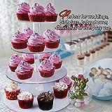 4-Etagen Cupcake Ständer, Tortenständer, Klar Runde Acryl - Hält bis zu 30 Cupcakes! Elegant Desserts Muffin Sushi Halter - Hoch Qualität & Haltbarer für Hochzeit, Geburtstage, Baby-Duschen. - 3