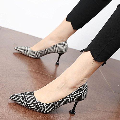 FLYRCX Europea di personalità del mondo della moda per donna sharp, velluto, shallowly shallowly parte tacchi alti b
