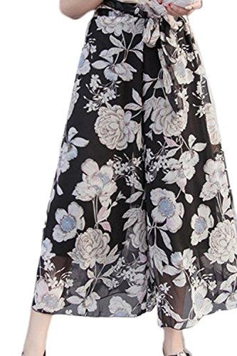 Frauen In Hosen Im Sommer Floral Chiffon Harem 03