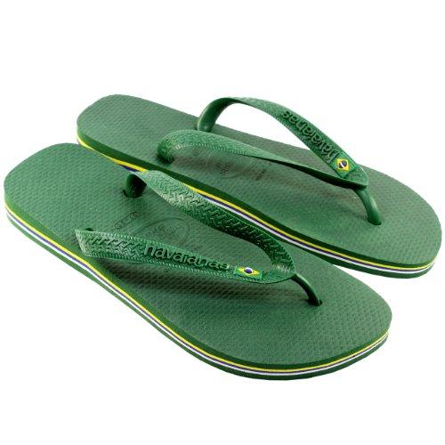 Femmes Havaianas Brasil Tongs Sandalees Blanc
