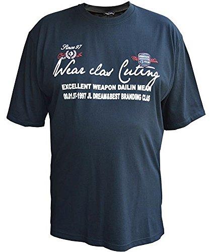 Übergrössen !!! Designer T-Shirt Kurzarm LAVECCHIA 3 Farben FL-70561A Schwarz
