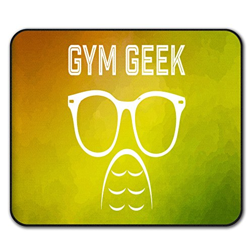 Geek Fitnessstudio Fitness Sport Mouse Mat Pad, Fitness Rutschfeste Unterlage - Glatte Oberfläche, verbessertes Tracking, Gummibasis von Wellcoda