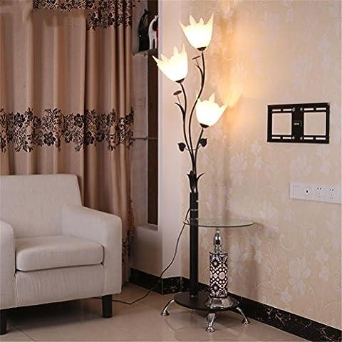 GUANSIJIE® Lampes de plancher Verre de lumière intérieur Simple Table de café moderne Chambre à coucher Salon Décoration verticale Art Lampes de sol , 3w WARM LIGHT