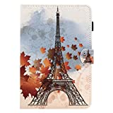 BONROY Samsung Galaxy Tab A 8.0 2015 T350 T355 Magnetic Cover, Pattern Thin Slim PU Leather Stand Credit Card Slots Holder Tablet Cases - Paris Tower