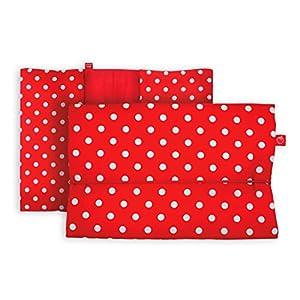 Windeltasche für unterwegs in rot mit weißen Punkten (bag in bag – Geburtsgeschenk Junge Mädchen)