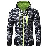 Goldatila Men es Kapuzenpullover Fall/Winter Camouflage Zipper Heft Pullover Hoody Hooded Sweatshirts warm-up lässige Top-Größe M-3XL