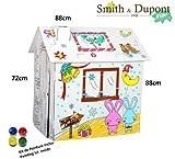 Smith & Dupont Fun! Papphaus Zum Bemalen - Spielhäuser (Verrückte Kaninchen)