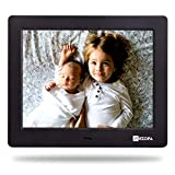 Arzopa 8 inch Digital Frame, High Resolution Widescreen Digital Photo Frame 1024x768, Support MP3 MP4 Videos and Pictures Player, with Calendar Function and Remote Control