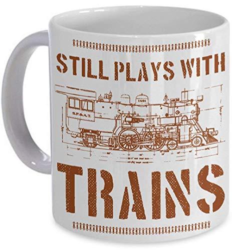 Still Plays With Trains Tasse Modell Eisenbahn Lokomotive