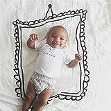 L Y Babydecken Nette Neugeborene DIY Fotografie Hintergrund Requisiten Decke Infant Swaddle Wrap Bett Krippe Quilt Kinder Badetuch,Photoframe