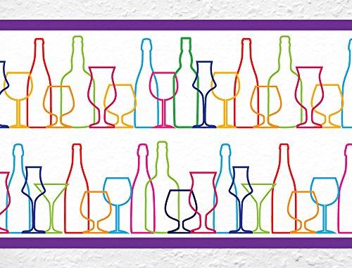 i-love-wandtattoo-b-10082-bordo-decorativo-adesivo-da-parete-motivo-bicchieri-e-bottiglie-cucina-di-