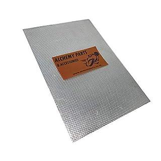 Selbstklebend Auspuff / Motor Aluminium Reflektierendes Abschirmblech Blatt 100cm x 33cm Ideal für Motorrad Verkleidung und Auto