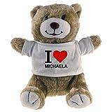 Multifanshop Kuscheltier Bär Classic I Love Michaela beige