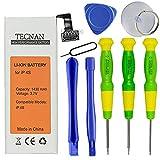 tecnan iPhone 4S Batterie Li-Ion 1430 mAh Ersatzakku für iPhone 4S Handy Akku + 8 Teilig Werkzeug Set Battery Accu ( Akku iPhone 4S inkl. Tool ) , 0 Ladenzyklen