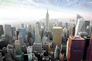 Maxi Poster avec la ville qui ne dort jamais, New York City Light (en couleur 91,5 x 61 cm