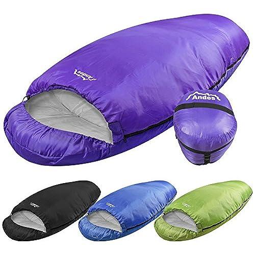 Andes Purple Barrel 400 4 Season Single Camping Sleeping Bag