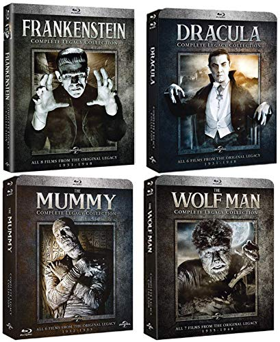 Classic Monster Legacy Collection: 20 Movies Blu-ray Complete Dracula / Frankenstein / Mummy / Wolf Man Sets -