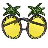 Neuheit Hawaiian Beach Style Lustige Ananas Form Sonnenbrille Schutzbrillen für Fancy Dress Party Event Supplies - Gelb & Schwarz