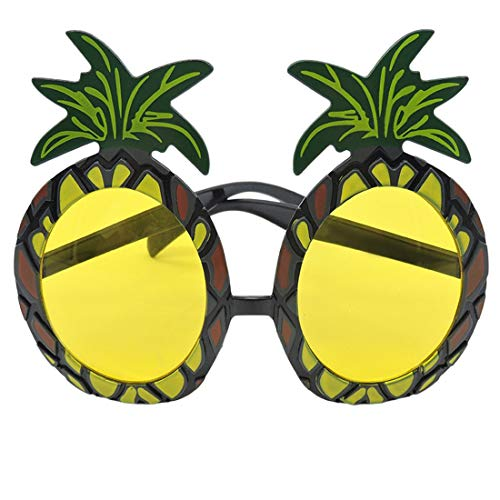 (Neuheit Hawaiian Beach Style Lustige Ananas Form Sonnenbrille Schutzbrillen für Fancy Dress Party Event Supplies - Gelb & Schwarz)