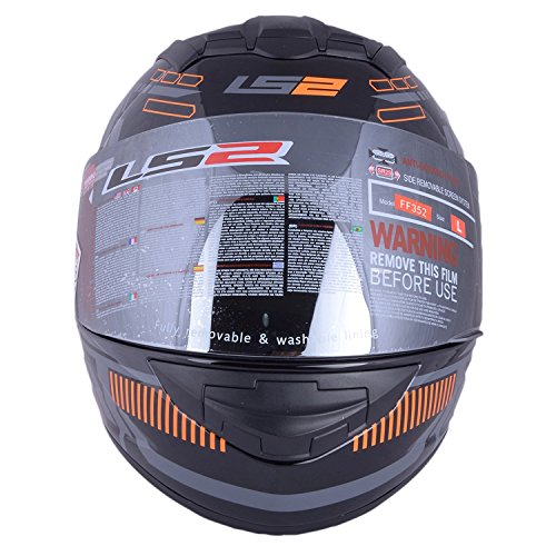 ls2 ff352 full face helmet (black and orange, l) LS2 FF352 Full Face Helmet (Black and Orange, L) 51 2BQazliUmL
