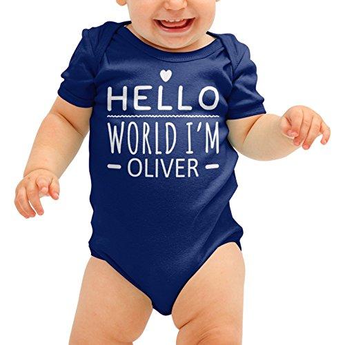 FunkyShirt Personalisierte Babygrow Hallo Welt Im DEINER NAMEN Cute Baby Suit Wachsen Body Romper Jungen Mädchen Dusche Geschenk (Sales Halloween-dekoration-clearance)