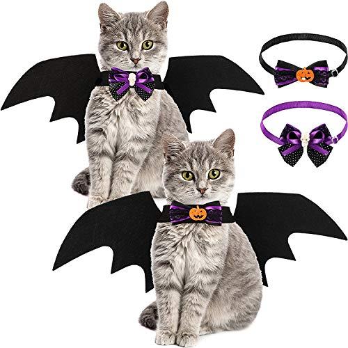 Haustier Katze Kostüm Für Halloween - 2 Stücke Haustier Katze Fledermausflügel und