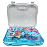 #5: Peppa Pig Doctor set packed in Plastic foldable suitcase for Children of age 3 to 8 years | Premium Quality | Certified Safe as per European Safety Standards (EN71) | Fun and Educational toys for Kids | Multi Color | Includes 1 Stethoscope, 1 EyeGlasses, 2 Doctor Batches, 1 Mobile, 1 Mirror, 2 Surgical Scissors, 1 Bandage, 1 Surgical Trey, 1 Syringe, 1 Thermometer, 1 Reflex Testing Hammer, 1 Otoscope, 1 Tweezer, 1 Scalpel, 1 BP Instrument