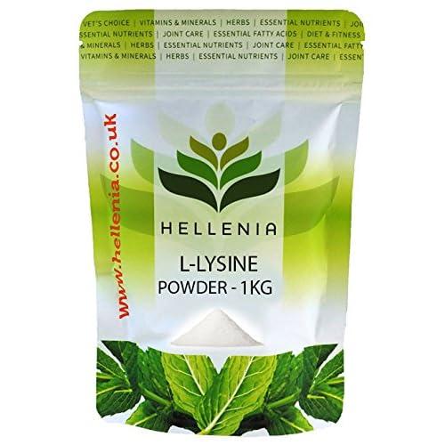 51%2BQeo4EuXL. SS500  - Hellenia L-Lysine Powder - 1kg - Sports Supplement