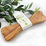 Natürliches Kauspielzeug aus Olivenholz mit Olivenöl - Olivi Dog Bone (XL)