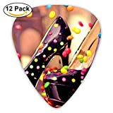 Color Candy Shoes Classic Guitar Pick (12 Pack) for Electric Guita Bass