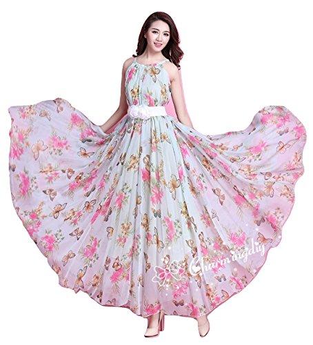 Salwar Style Digital Print Silk & Georgette Dress Material(New_Free_Rose)