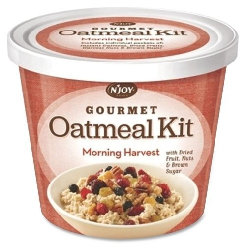 njoy-gourmet-morning-harvest-oatmeal-resealable-lid-mixed-fruit-mixed-nut-brown-sugar-cup-8-carton-b