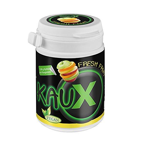 kauX Xylitol Zahnpflege-Kaugummi Fresh Fruit (60g=40 Stück pro Dose)