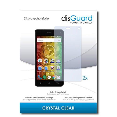 disGuard® Bildschirmschutzfolie [Crystal Clear] kompatibel mit Medion Life E5001 [2 Stück] Kristallklar, Transparent, Unsichtbar, Extrem Kratzfest, Anti-Fingerabdruck - Panzerglas Folie, Schutzfolie