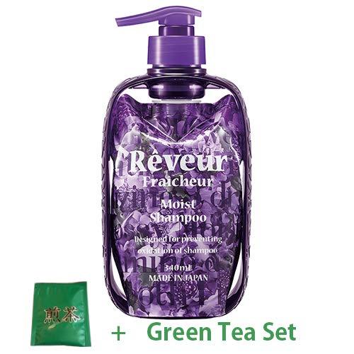 Reveur Fraicheur Moist Hair Shampoo Dispenser Set 340ml - Eve Rose Berry Scent (Green Tea Set)