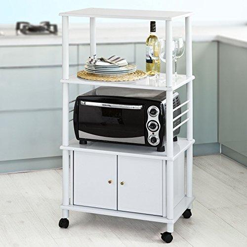 SoBuy® Forno a microonde Mensole, Carrello da cucina, armadietto cucina,