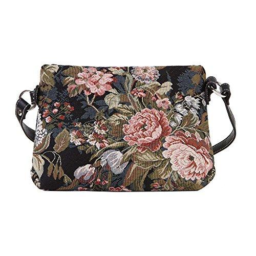 Signare sac de messager sac porté-croisé d'épaule tapisserie mode femme Pivoine