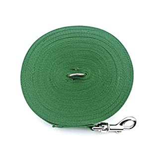 50ft 15m Long Dog Training Lead Obedience Recall leash Large 25mm In Green Manufactured And Sold By Church Products UK 5