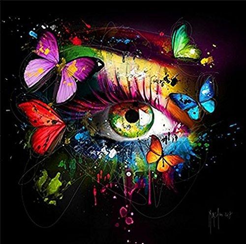 Fertig-Bild - Patrice Murciano: Le mirroir de l'âme 50 x 50 cm Auge Schmetterlinge Pop Art bunt schrill modern Kult